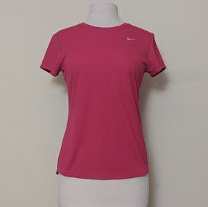 Nike Dri-Fit Pink Short Sleeve Performance Wear M